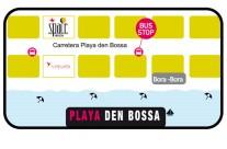 Mapa Playa den Bossa